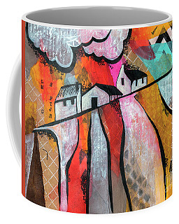 Coffee Mug featuring the mixed media Country Life by Ariadna De Raadt