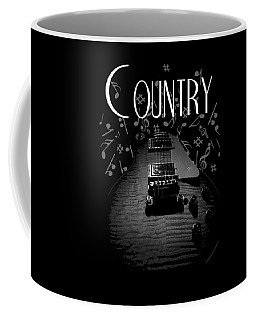 Coffee Mug featuring the digital art Country Music Guitar Music by Guitar Wacky