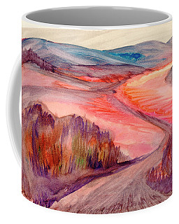 Coffee Mug featuring the painting Country Road by Dobrotsvet Art