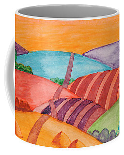 Coffee Mug featuring the painting Countryside by Dobrotsvet Art