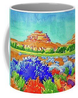 Coffee Mug featuring the painting Courthouse And Jail Watercolor by Dan Miller