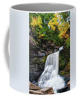Coffee Mug featuring the photograph Cowshed Falls At Watkins Glen State Park - Finger Lakes, New York by Lynn Bauer
