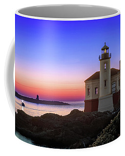 Crab Boat At The Bandon Lighthouse Coffee Mug