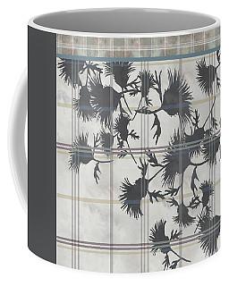 Cream Thistle Plaid Contrast Border Coffee Mug