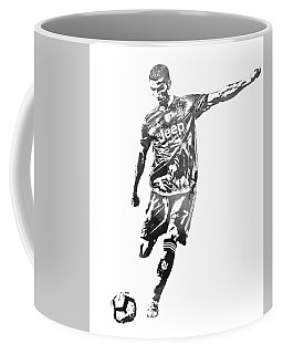 Cristiano Ronaldo Juventus Water Color Pixel Art 2 Coffee Mug