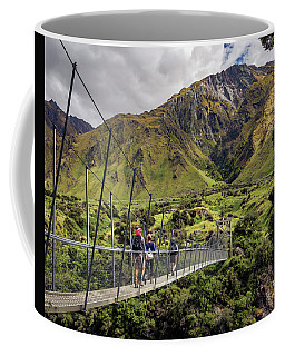 Crossing The River In New Zealand Coffee Mug