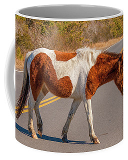 Crossing The Road At Assateague Coffee Mug