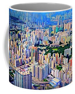 Crowded Hong Kong Abstract Coffee Mug