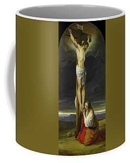 Crucifixion With Mary Magdalene Kneeling And Weeping Coffee Mug
