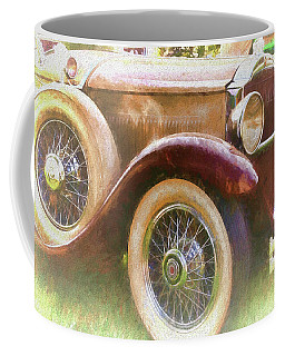 Coffee Mug featuring the photograph Cruise Into Tomorrow With Yesterday's Wheels by Ola Allen