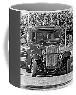 Cruising Sauble Beach - Red Ford Hotrod Bw Coffee Mug