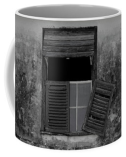 Coffee Mug featuring the photograph Crumblling Window by Stuart Manning