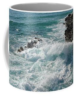 Crushing Waves In Porto Covo Coffee Mug