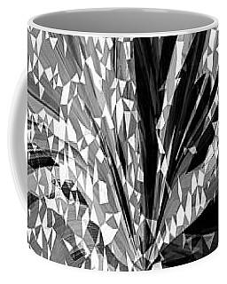 Crystal Floral Black Opposite Coffee Mug