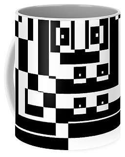 Coffee Mug featuring the painting Cubical Cubes  by Arttantra