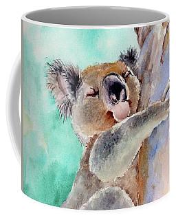 Cuddly Koala Watercolor Painting Coffee Mug