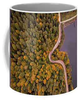 Curved Road At Lakeside Coffee Mug