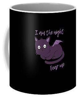Cute Halloween Cat I Am The Night Fear Me Coffee Mug