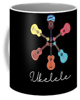Cute Ukelele Instrument Graphic Art For Musician Coffee Mug