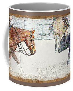 Cutting Horse At Work Coffee Mug