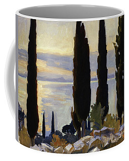 Cypress Trees At San Vigilio, 1913  Coffee Mug