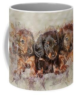 Dachshund Three Puppies Coffee Mug