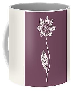 Dahlia Purple Flower Coffee Mug