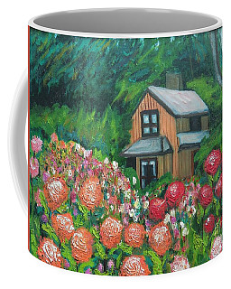 Dahlias In The Woods Coffee Mug