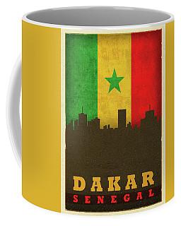 Dakar Senegal World City Flag Skyline Coffee Mug