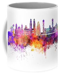 Dakar Skyline In Watercolor Background Coffee Mug