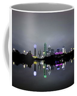 Dallas Texas Cityscape River Reflection Coffee Mug