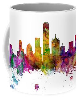 Dallas Texas Skyline Panoramic Coffee Mug