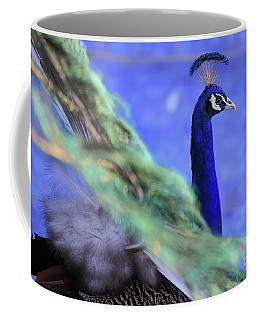 Dancing Peacock Coffee Mug
