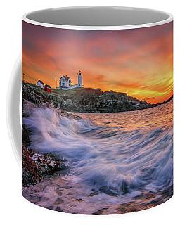 Dawn At Cape Neddick Lighthouse Coffee Mug