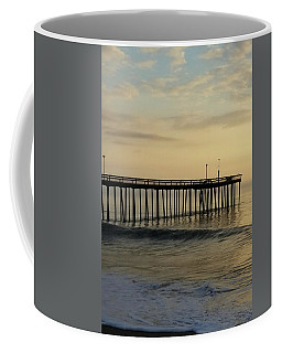 Coffee Mug featuring the photograph Daybreak Over The Ocean 1 by Robert Banach