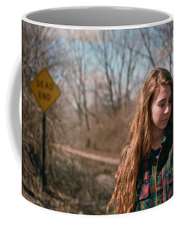 Coffee Mug featuring the photograph Dead End by Carl Young