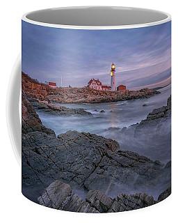 December Dawn At Portland Head Light Coffee Mug