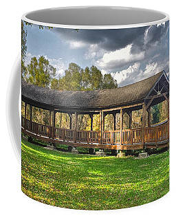 Deck At Pickerington Ponds Coffee Mug