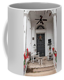 Coffee Mug featuring the photograph Deck The Porch by Kristia Adams