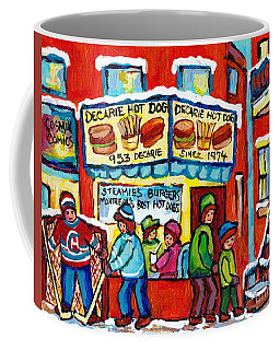 Delicious Decarie Hot Dog Ville St Laurent Famous Fast Food Eatery C Spandau Montreal Hockey Art     Coffee Mug