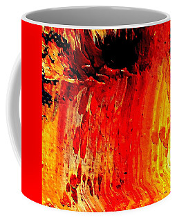 Coffee Mug featuring the painting Delicious Paint Abstract by VIVA Anderson