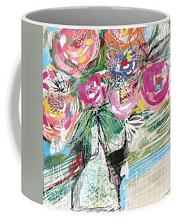 Delightful Bouquet 3- Art By Linda Woods Coffee Mug