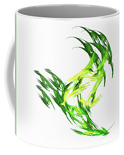 Deluxe Throwing Star Green Coffee Mug