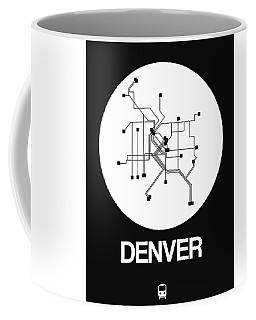 Denver White Subway Map Coffee Mug