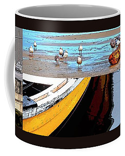Coffee Mug featuring the photograph Depoe Bay Collage by Jerry Sodorff