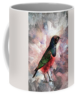 Coffee Mug featuring the photograph Desaturated Starling by Kay Brewer