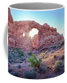 Coffee Mug featuring the photograph Desert Sunset Arches National Park by Nathan Bush