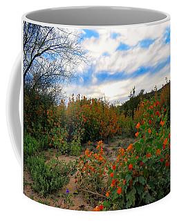 Desert Wildflowers In The Valley Coffee Mug