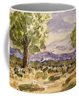Coffee Mug featuring the painting Desolate by Barry Jones