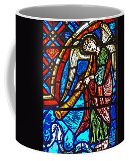 Detail From A Window Depicting The Last Judgement, Stained Glass Coffee Mug